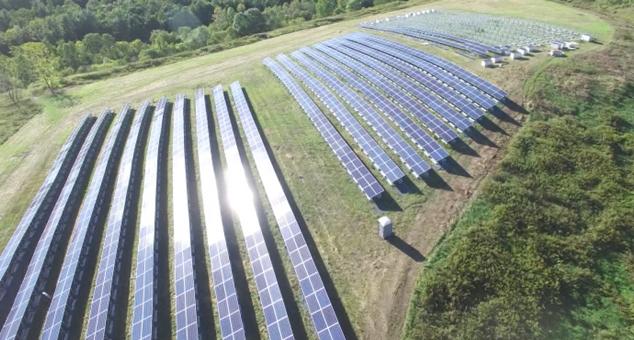Monolity solar farm in Hoosick Falls