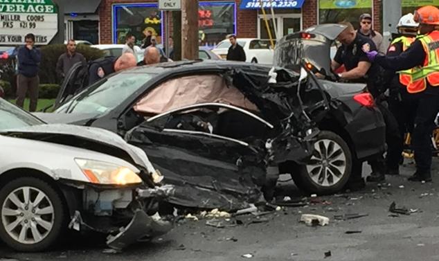 Man arrested, multiple people injured after major crash shuts down