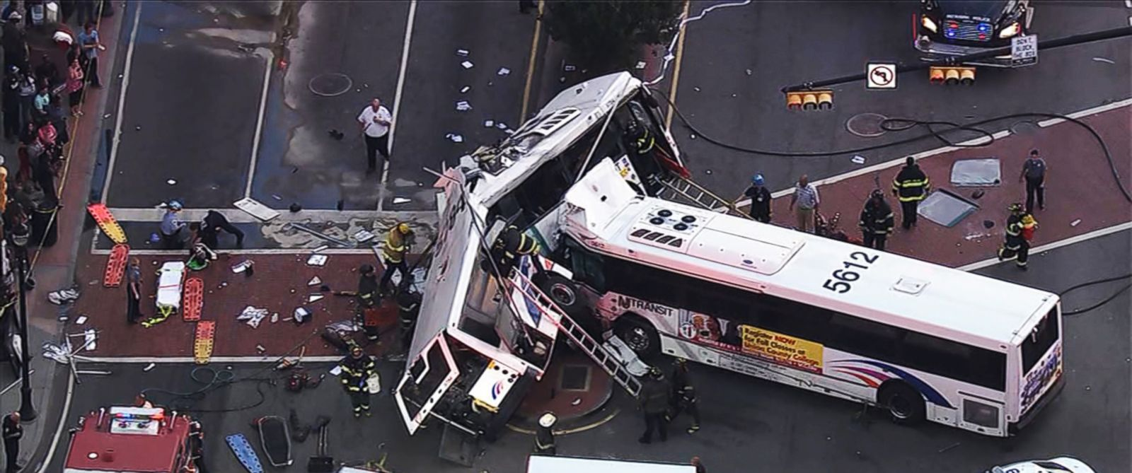 1 dead, 19 injured in bus collision in New Jersey