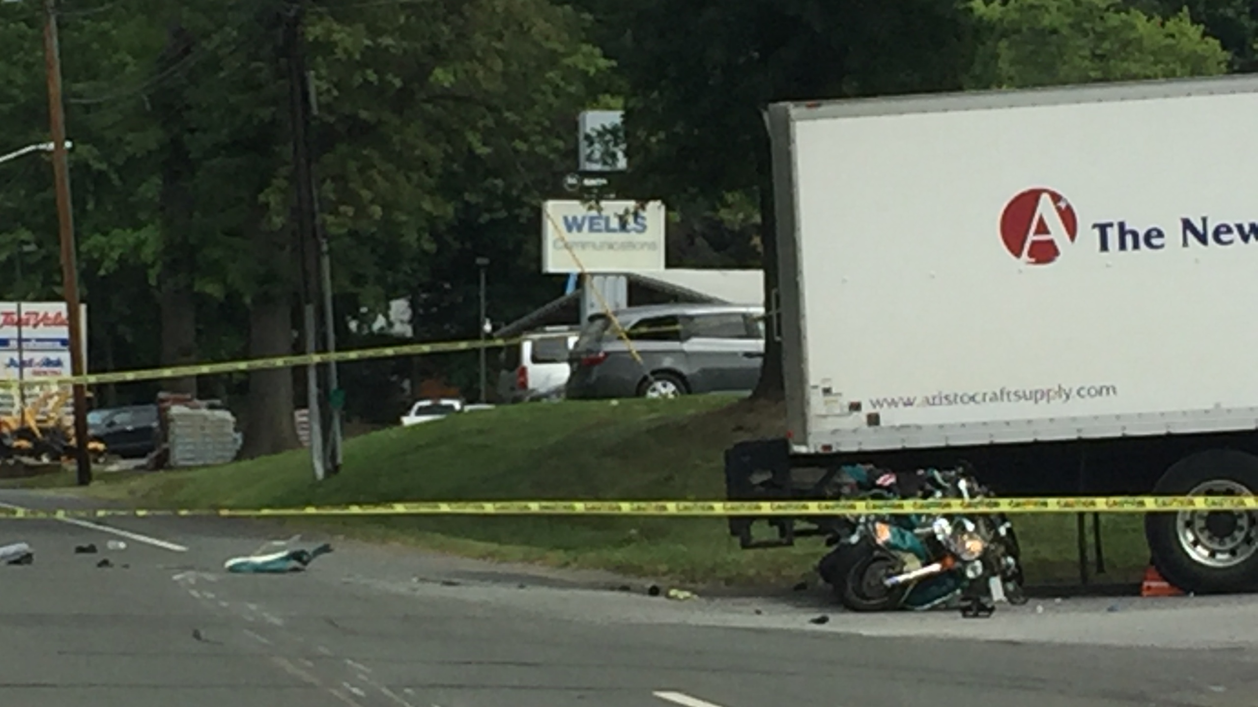 A Motorcycle Accident Has Shut Down Part Of Route 4 Headed
