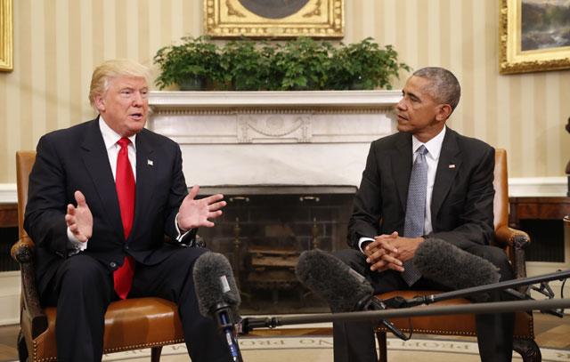 Donald Trump and Barack Obama_502381