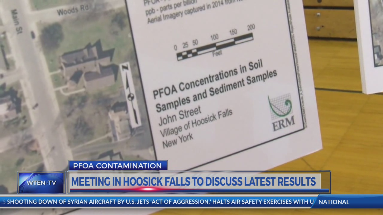 Numbers released on groundwater, soil PFOA contamination in Hoosick Falls