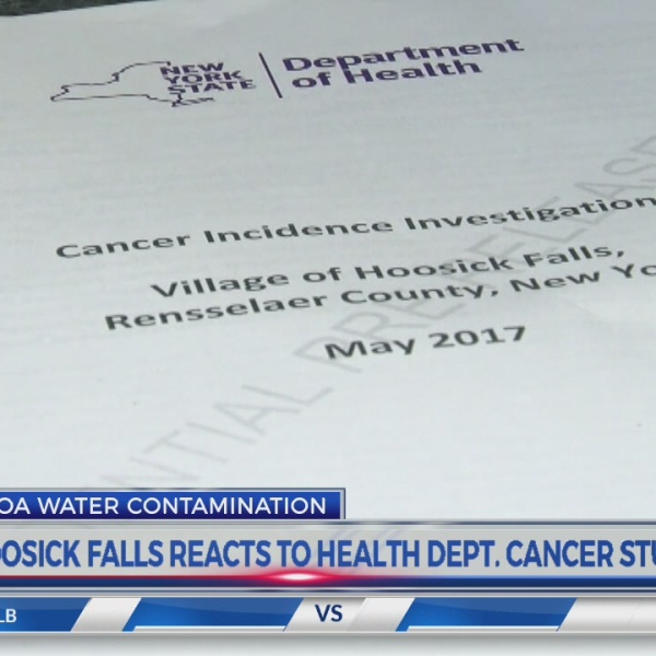 Hoosick Falls reacts to Health Dept. cancer study