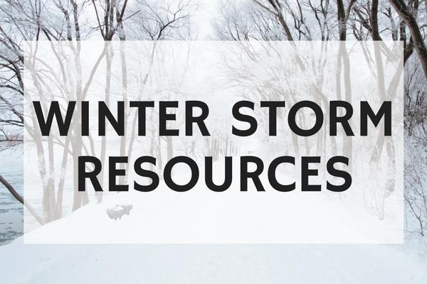 Winter Storm Resources