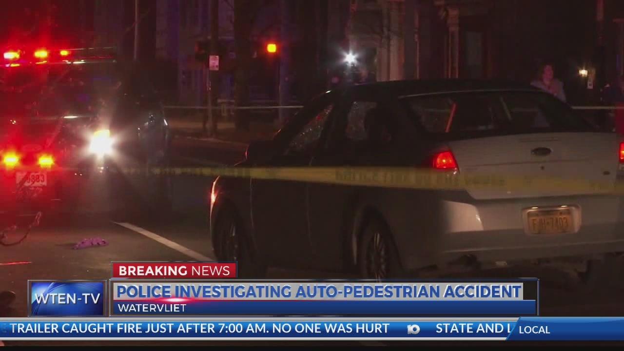 Crews on scene of auto-pedestrian accident in Watervliet