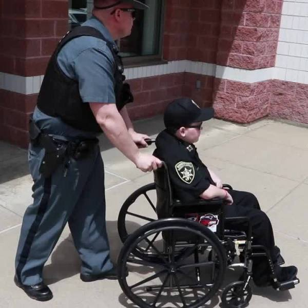Boy with cancer sworn in as newest Captain of Washington County Sheriff's office