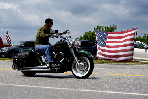 Patriotic Motorcyclist