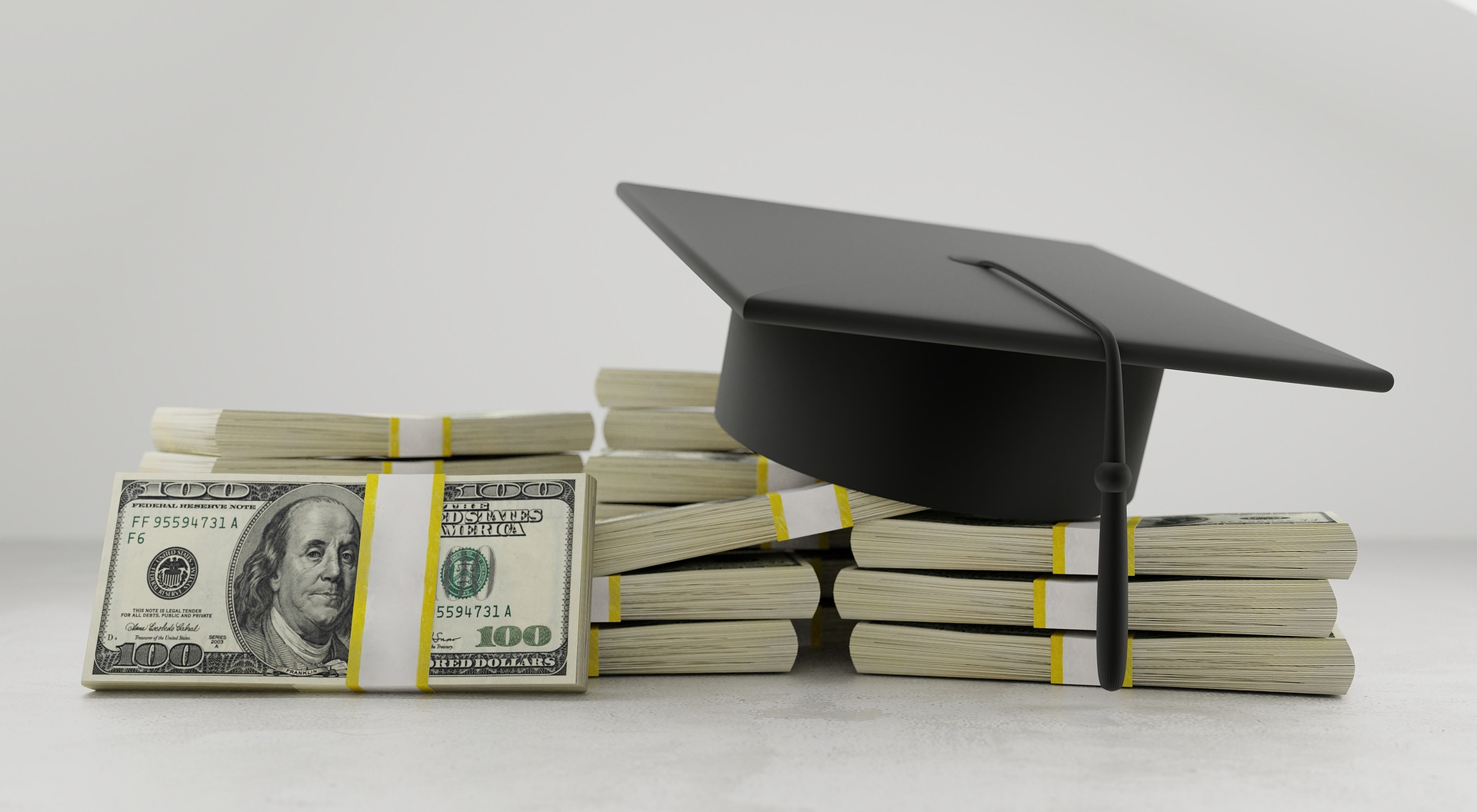 College graduation debts and money