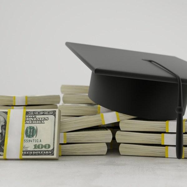 College graduation debts and money