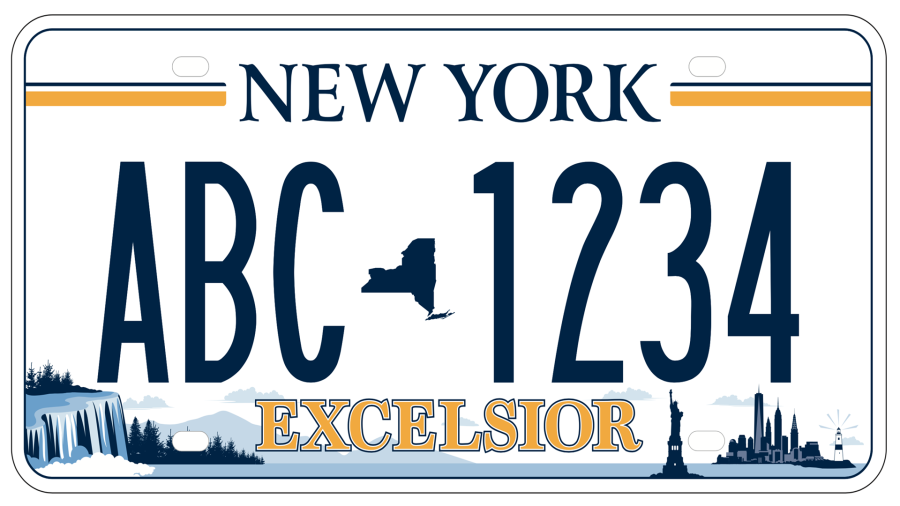 The New York DMV announced the winning license plate design.