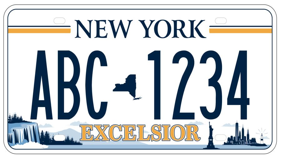 The New York DMV announced the winning license plate design.