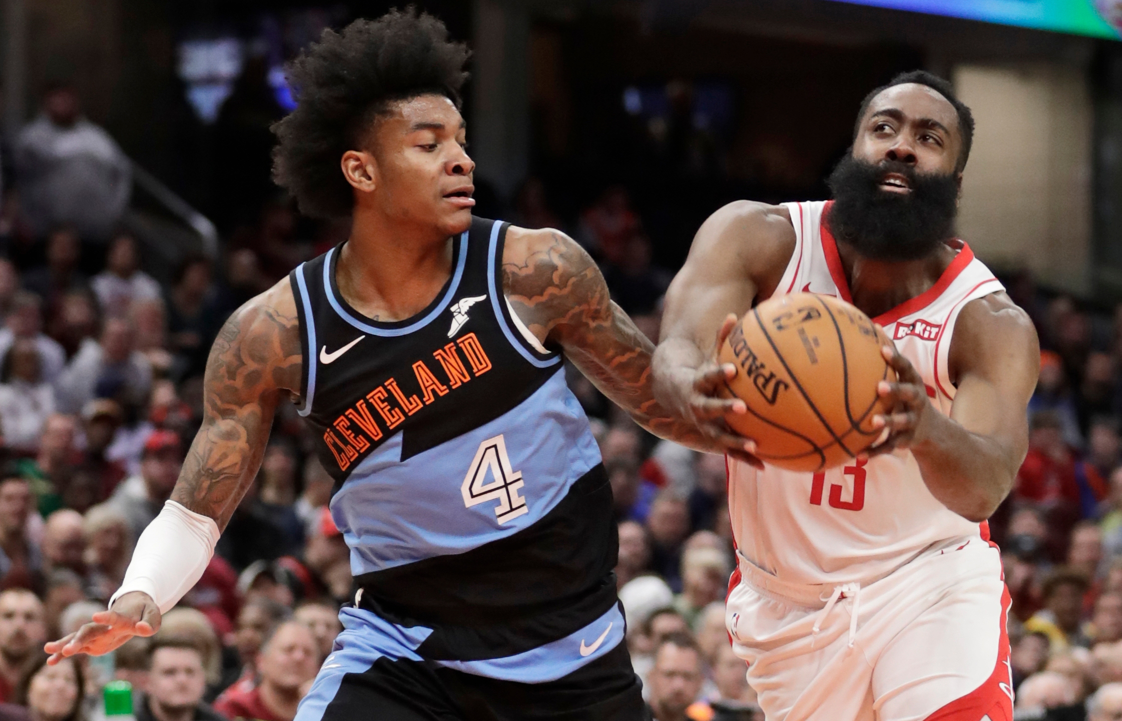 Harden Scores 55 Rockets Withstand Scare From Cavaliers News10 Abc