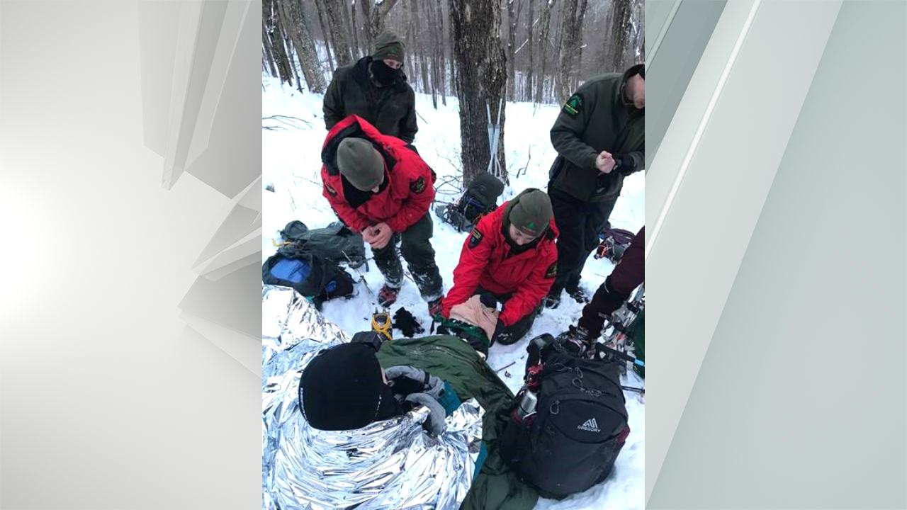 Ranger rescue on Sherrill Mountain