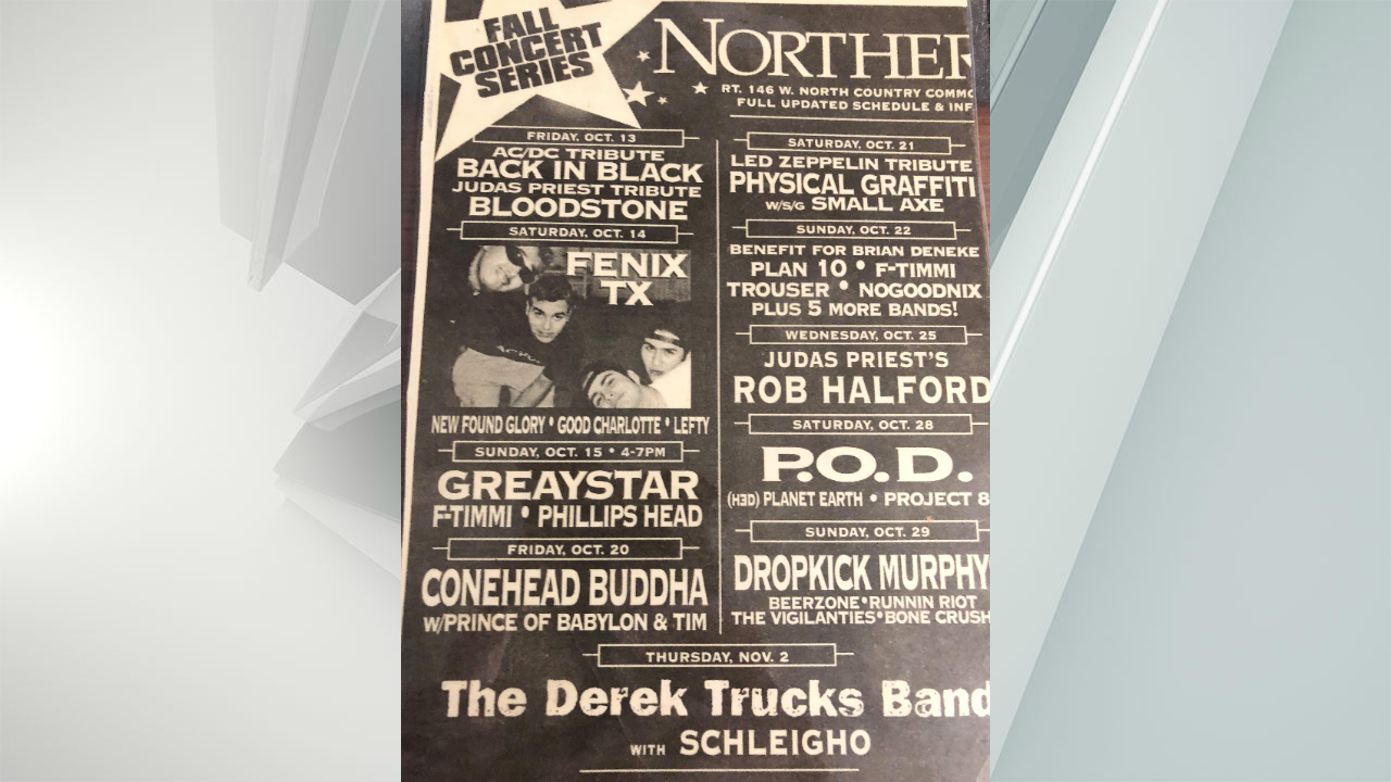 A ca. 2000 flyer full of nostalgic upstate bands