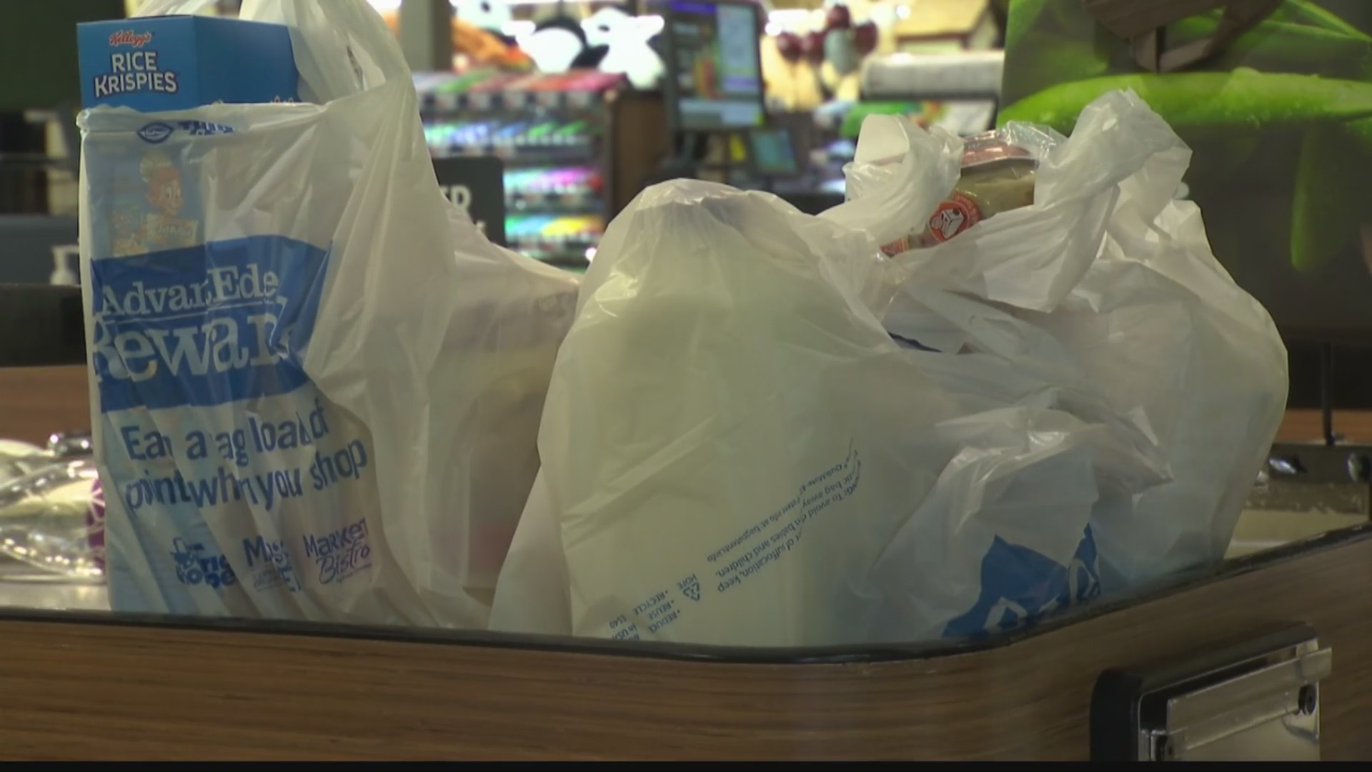 plastic bags in the price chopper check out