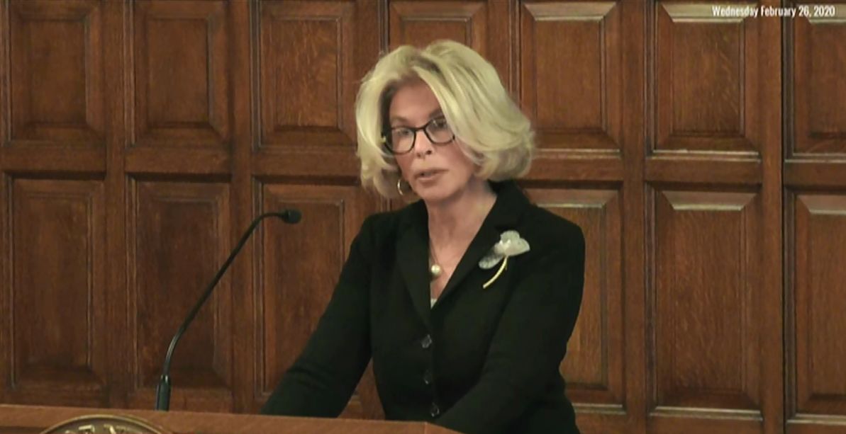 Janet DiFiore addresses audience