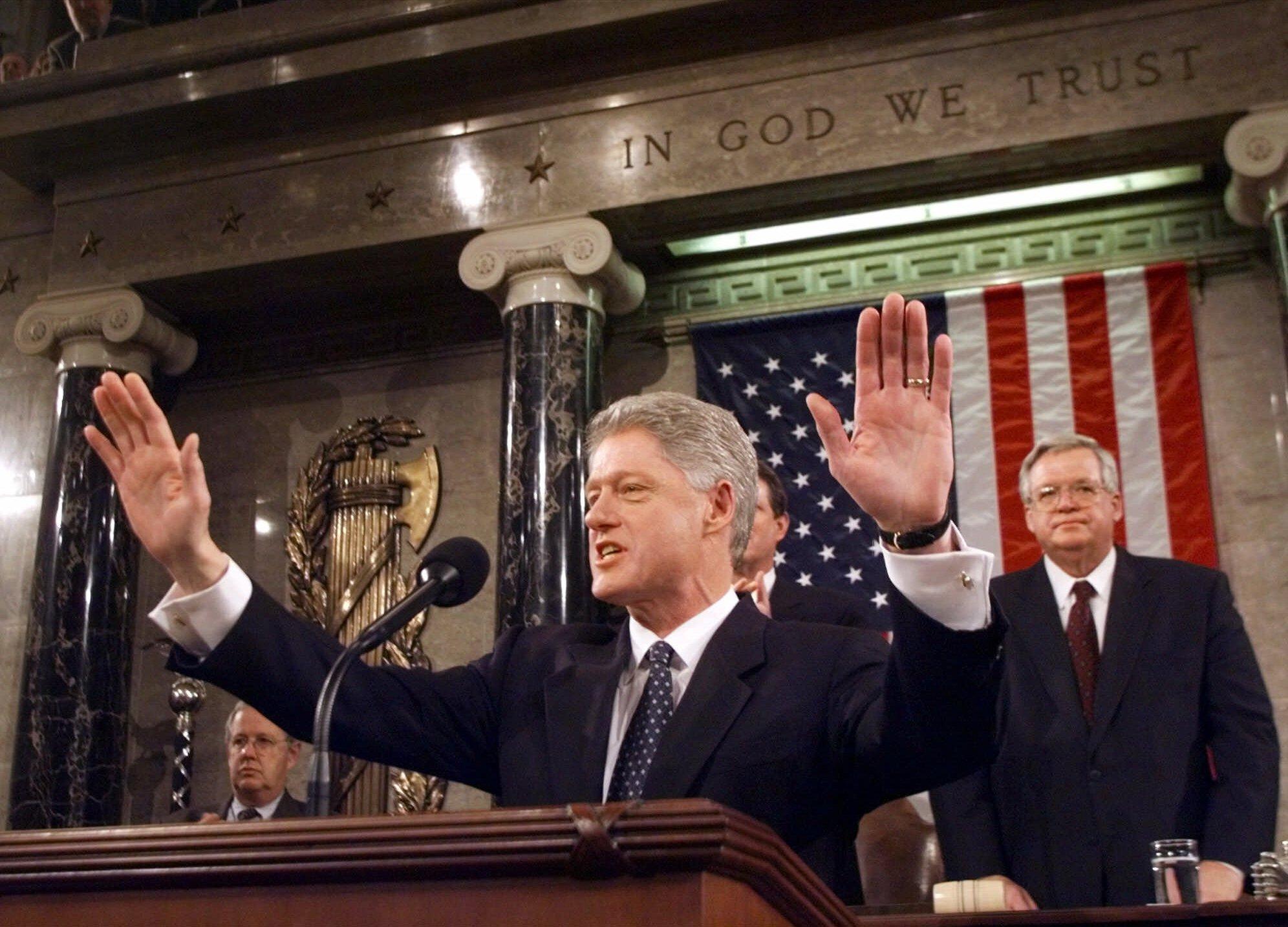 Bill Clinton, Dennis Hastert