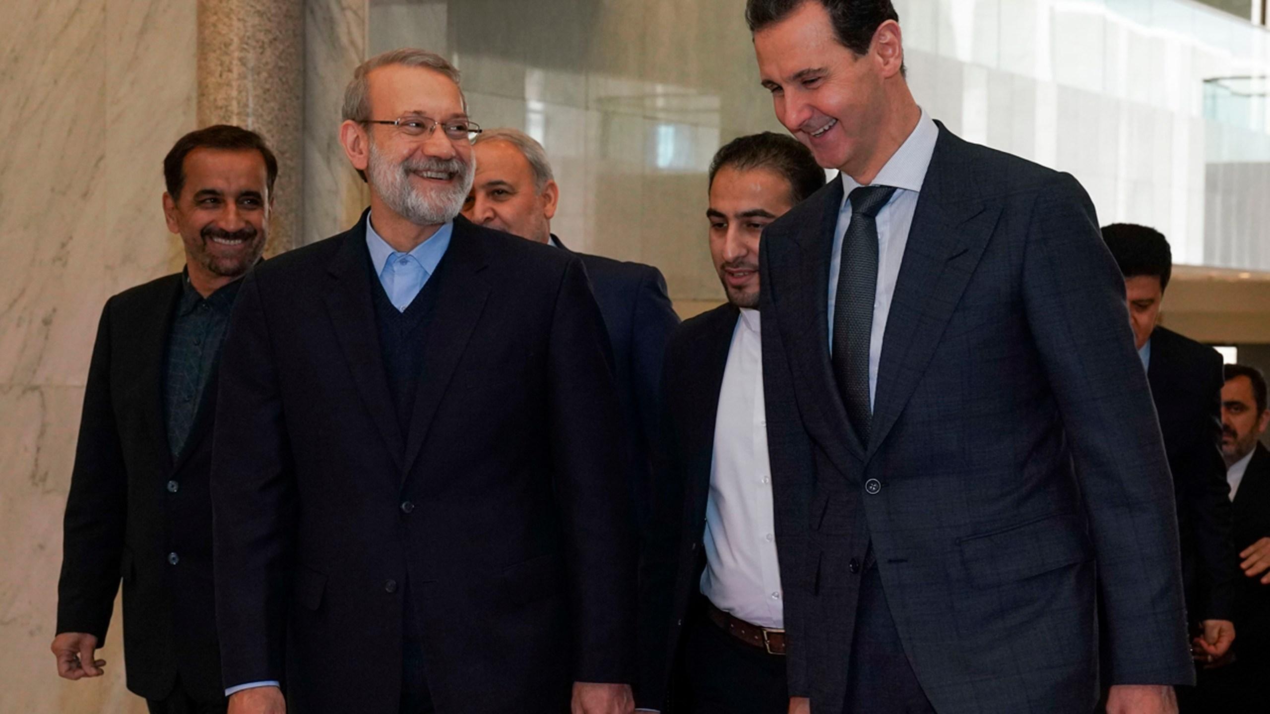 Bashar Assad, Ali Larijani