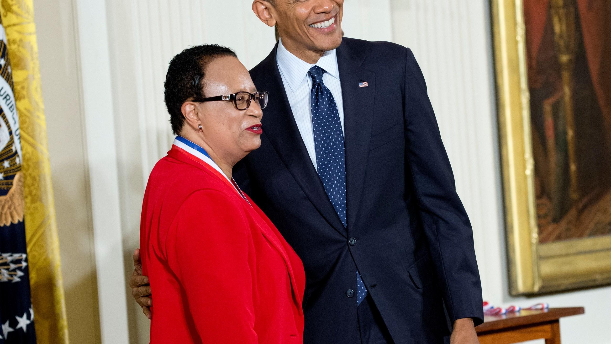 Shirley Ann Jackson and Barack Obama