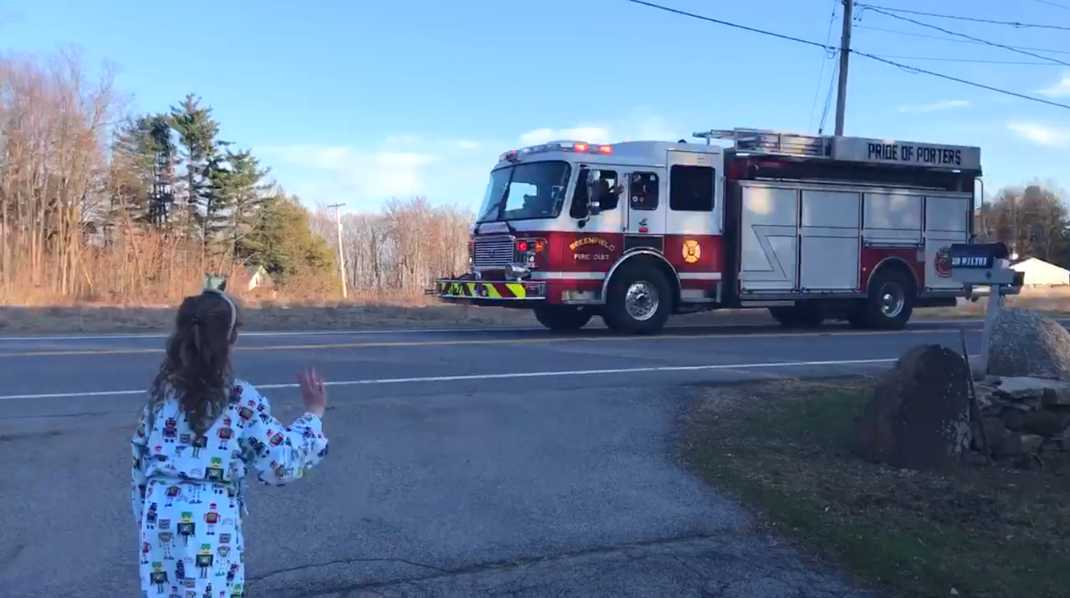 8 year old girl birthday fire truck