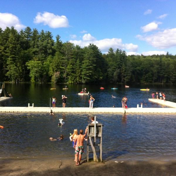 Summer camp swimming