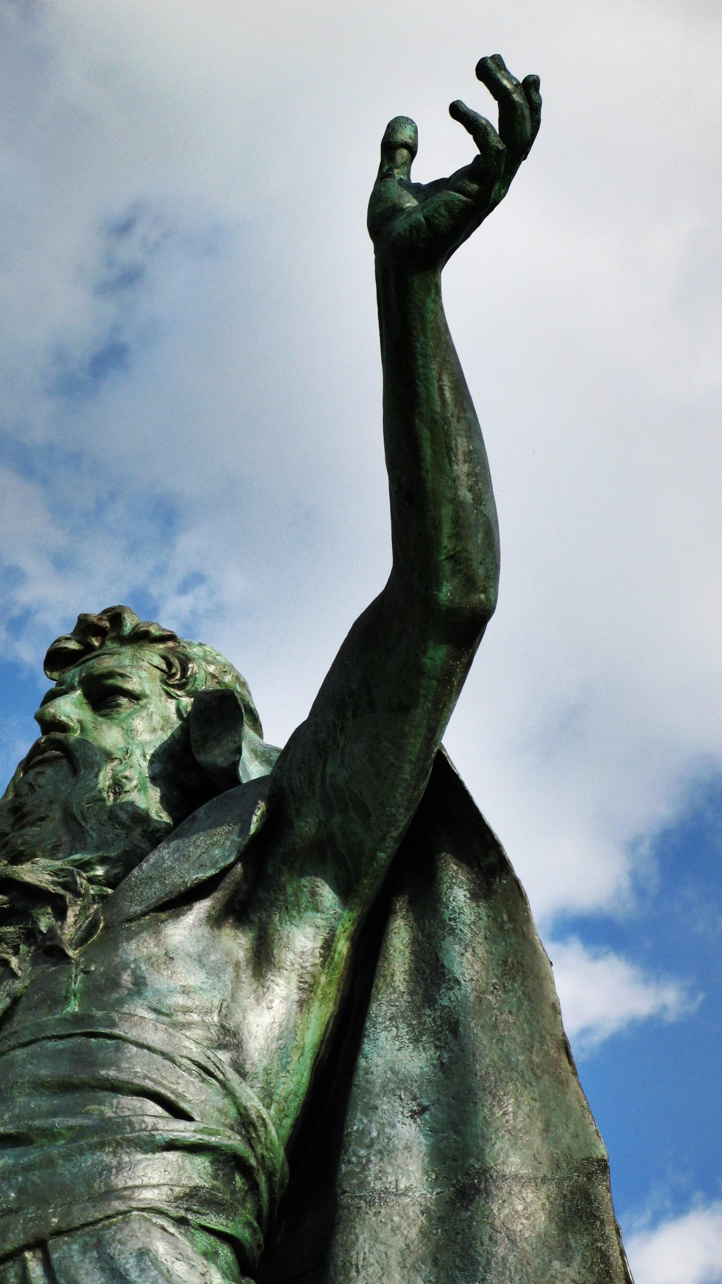 Moses statue in Albany's Washington Park