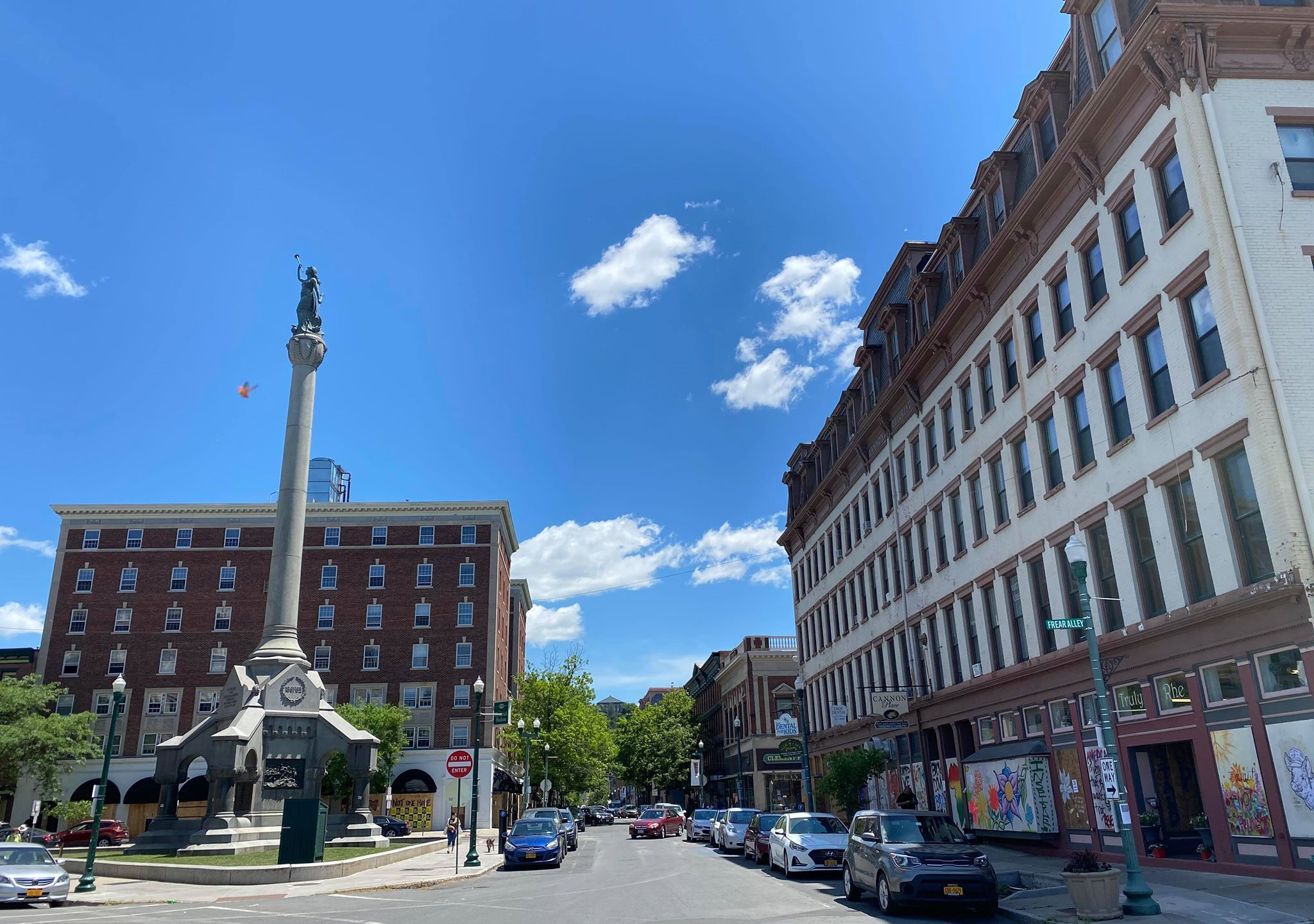Downtown Troy generic monument square