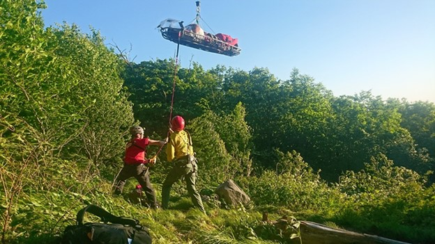 Forest Rangers assist with helicopter rescue