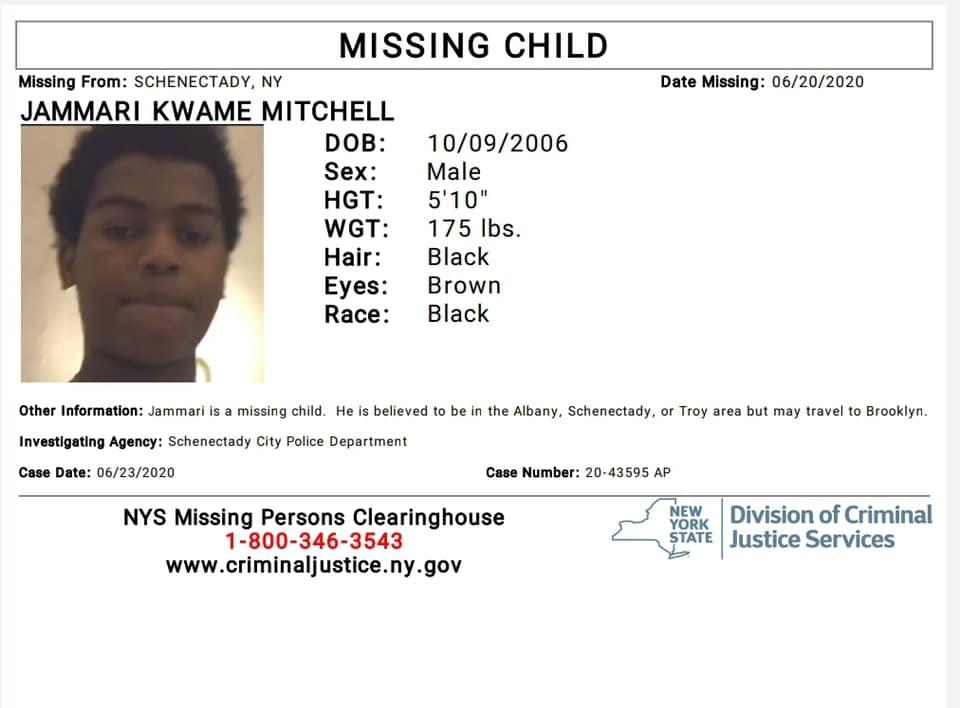 Missing Child Schenectady