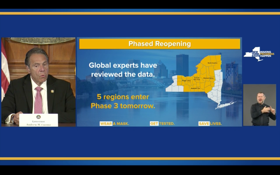 Cuomo slide on phase three