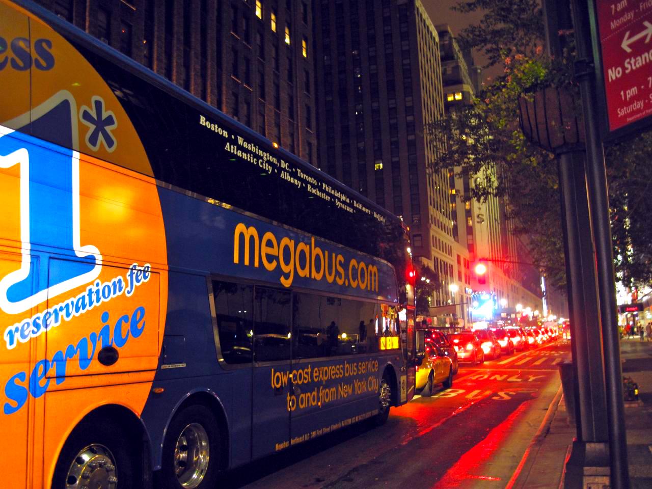 Megabus in Manhattan
