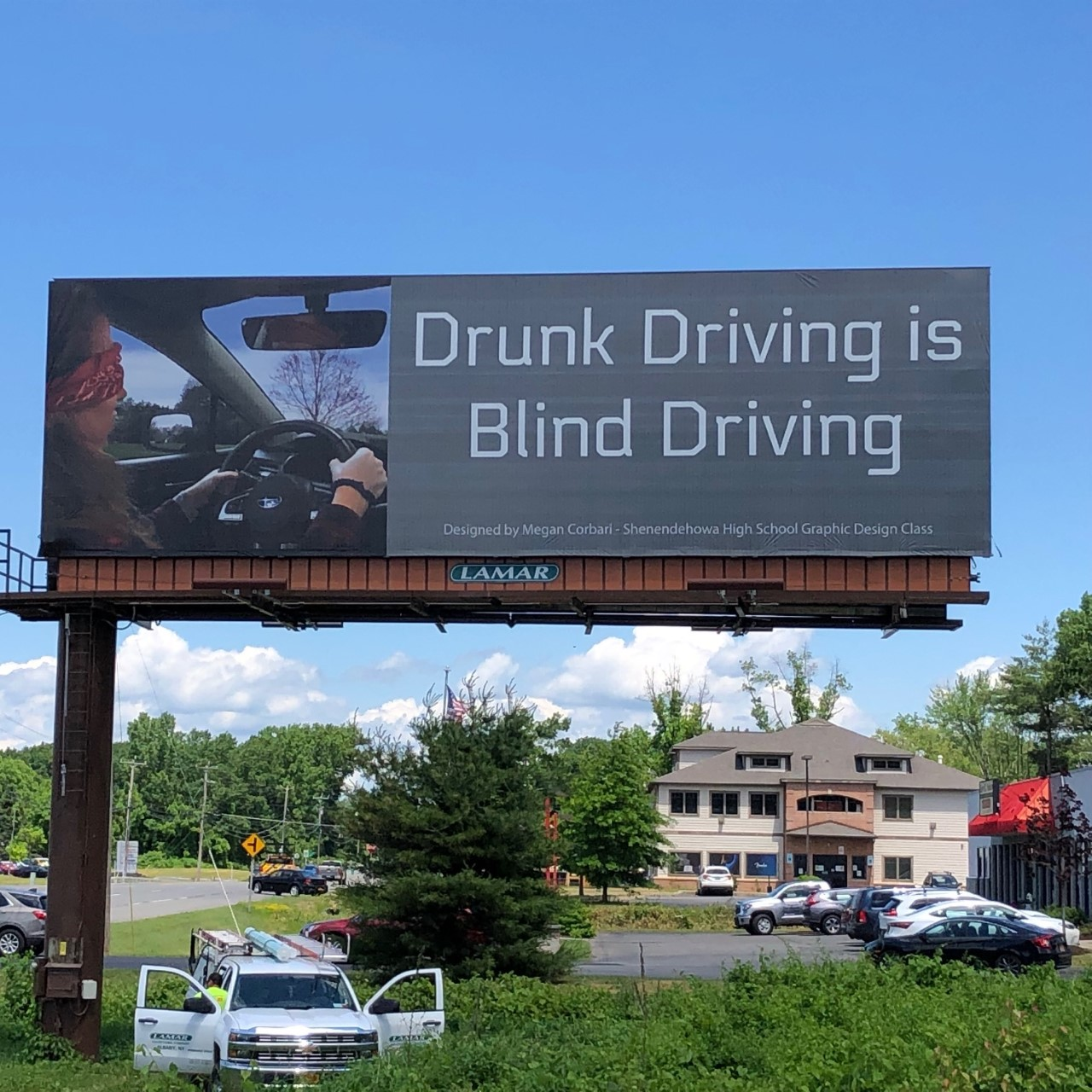 shenendehowa drunk driving billboard 2020