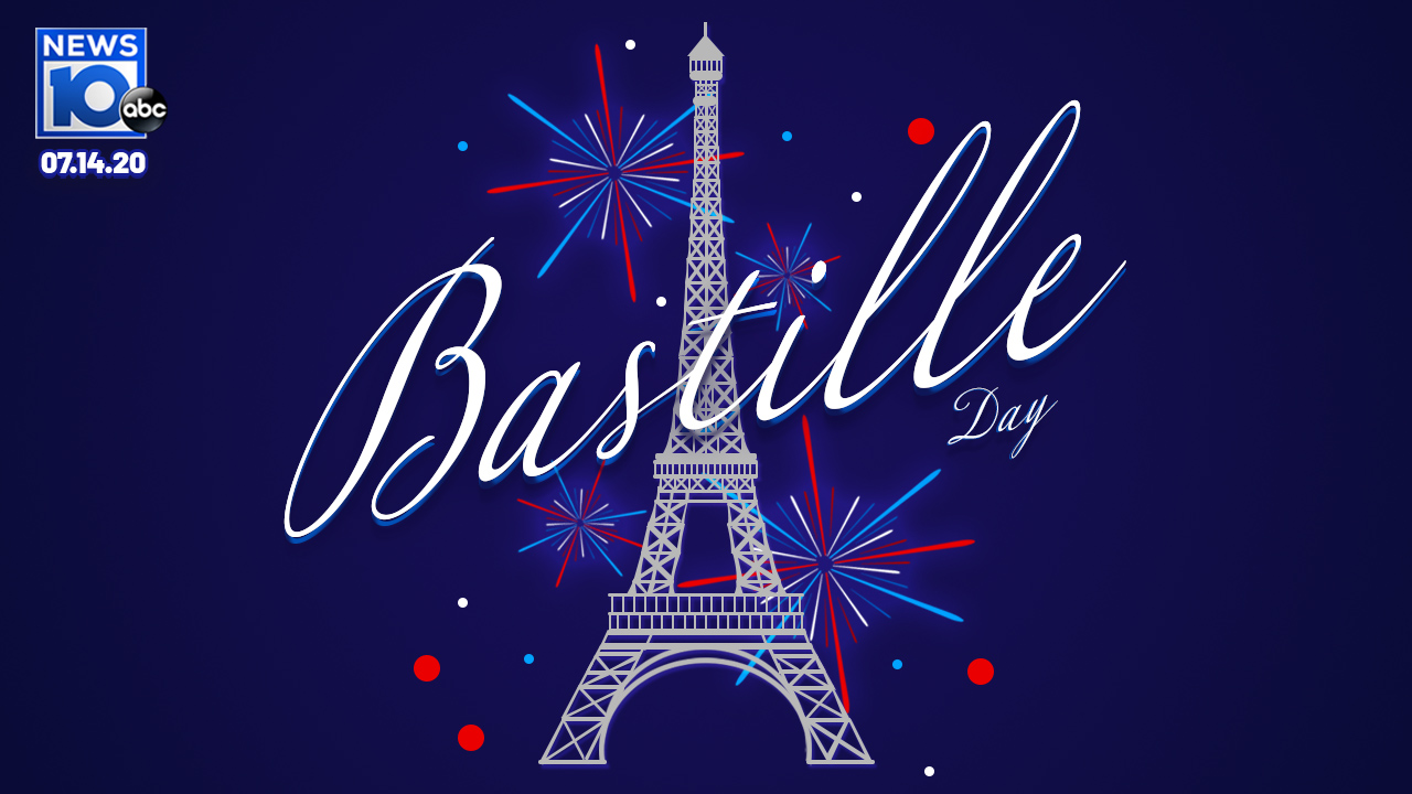 Bastille Day with the Eiffel Tower and fireworks