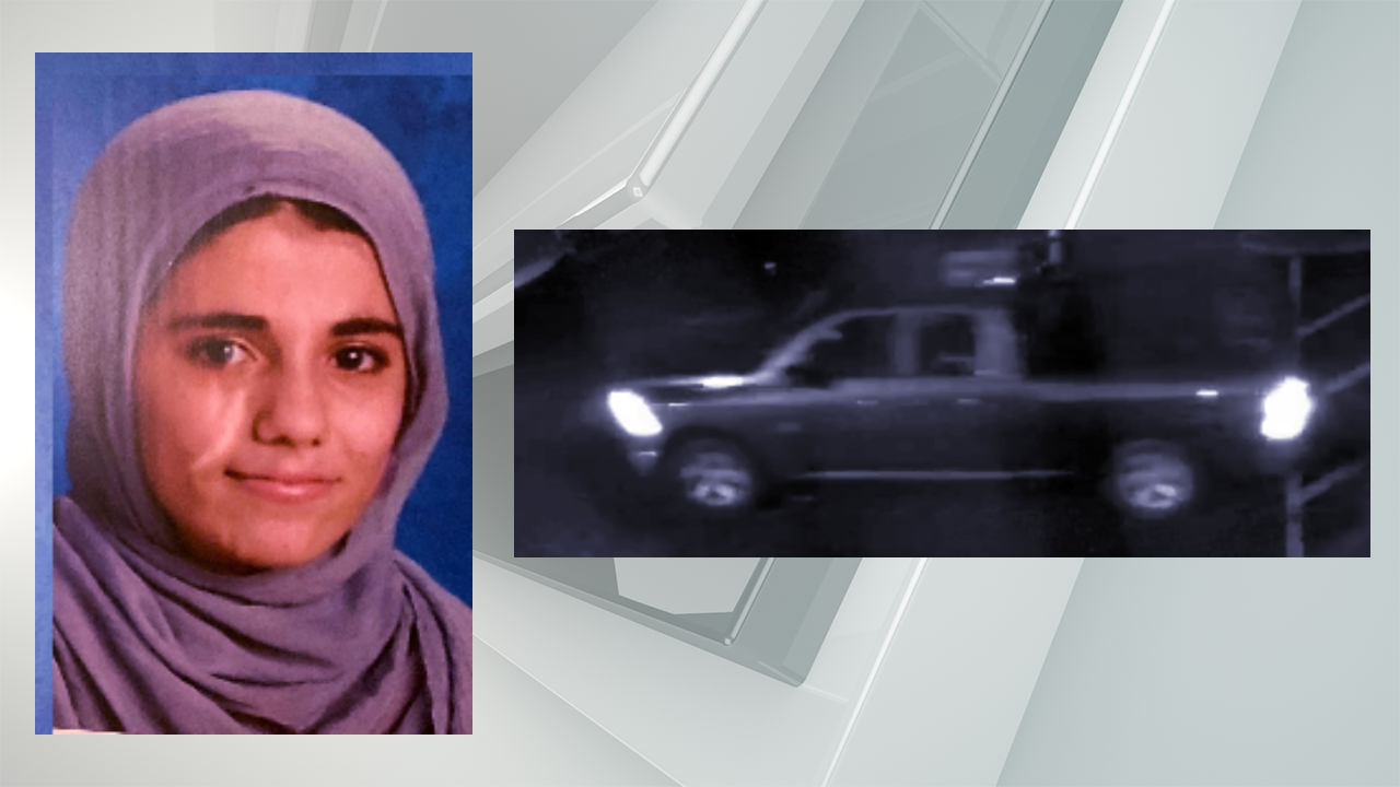 Sakina Ahmadzai and the truck she was last seen getting into