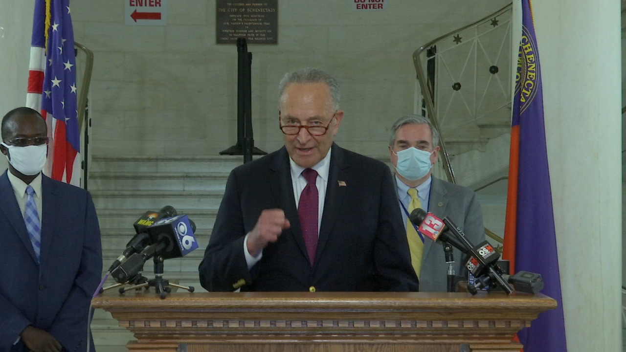 U.S. Senator Chuck Schumer calls for immediate fiscal relief throughout the Capital Region