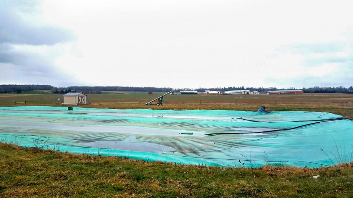 A manure cover and flare can improve water quality while also destroying methane