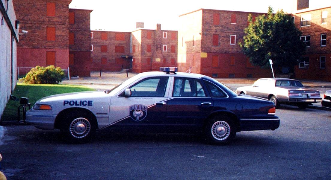 Vintage Boston housing police car