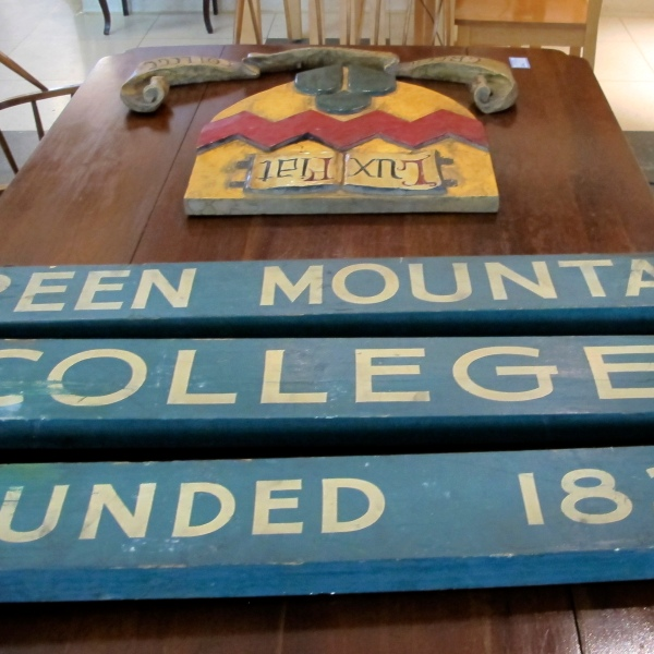 Green Mountain College sign