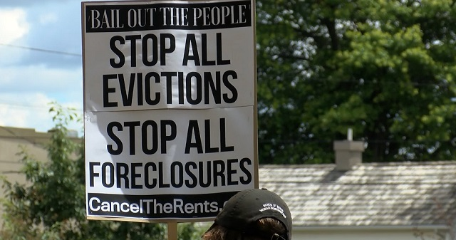 Stop all evictions; stop all foreclosures