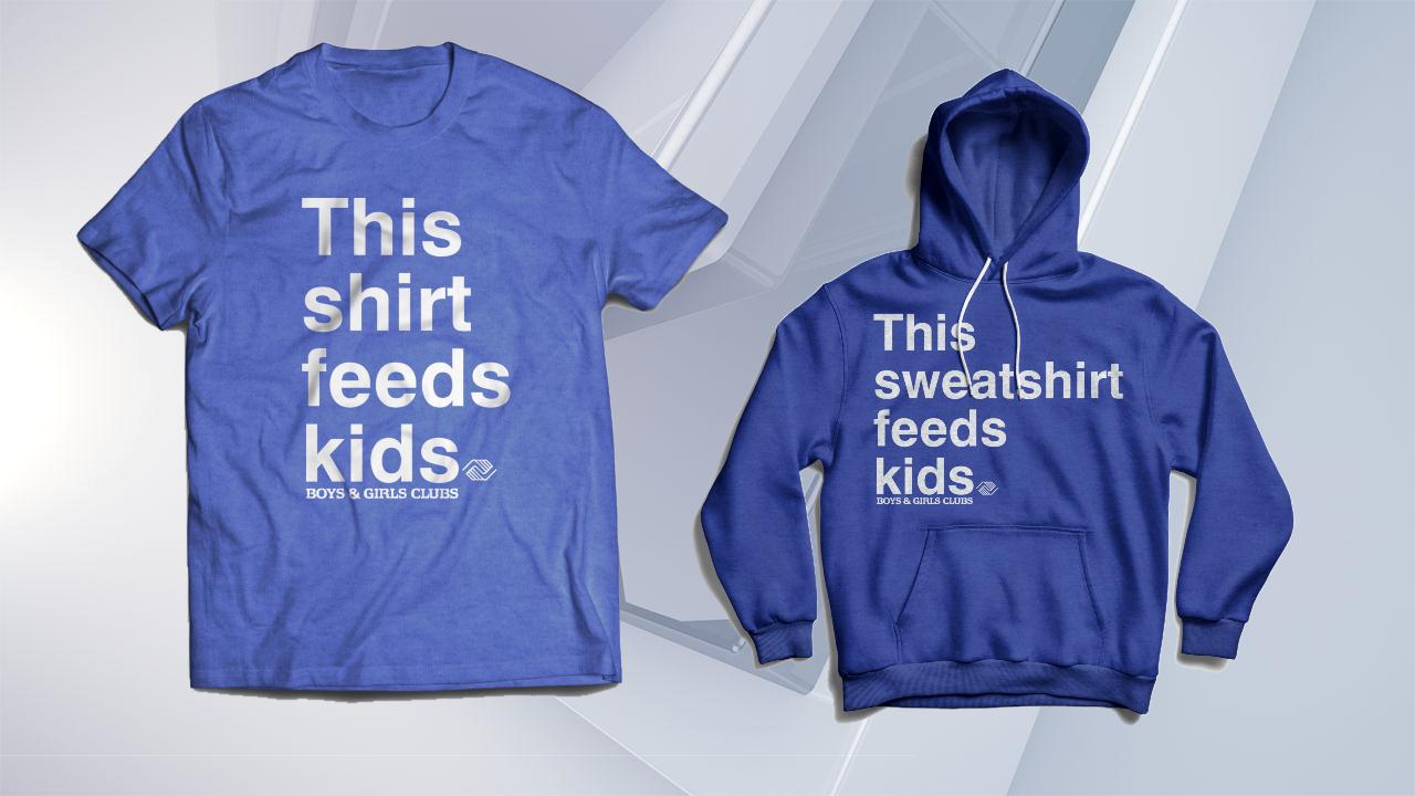 """This shirt feeds kids"""