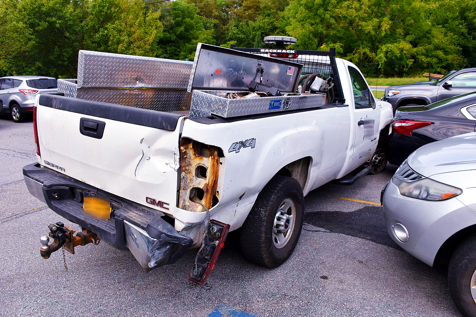 A pick up truck stolen from Poughkeepsie and recovered in Lagrange