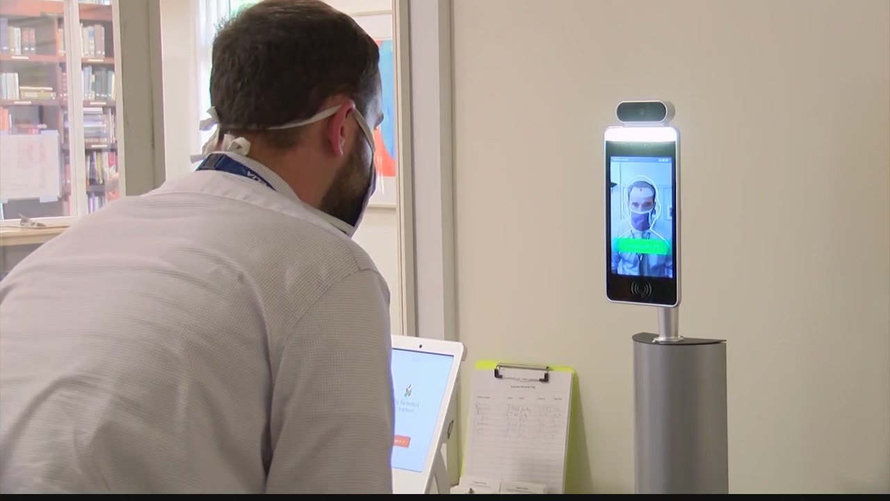 thermal facial recognition cameras nursing home coronavirus covid