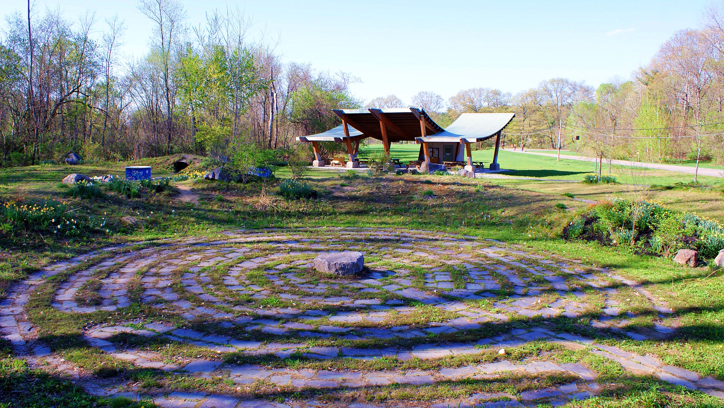 The labyrinth at Hudson Crossing Park