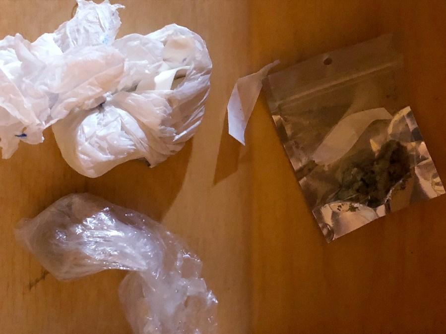 Fentanyl and drug paraphernalia seized during arrest
