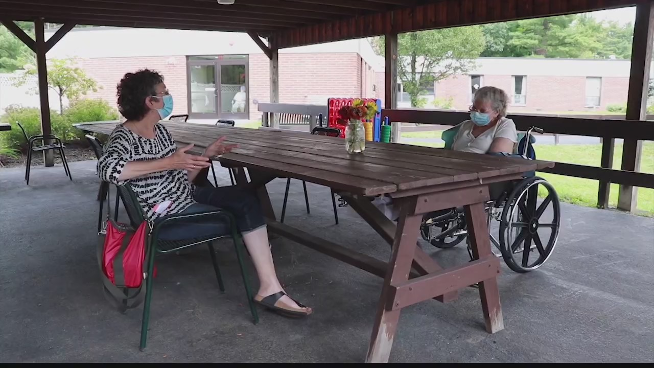 nursing home visitation outdoors