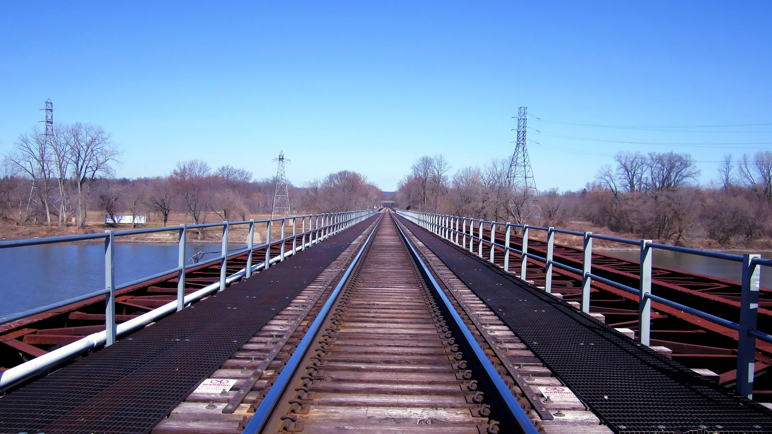 Mohawk River Rail Bridge in Schenectady
