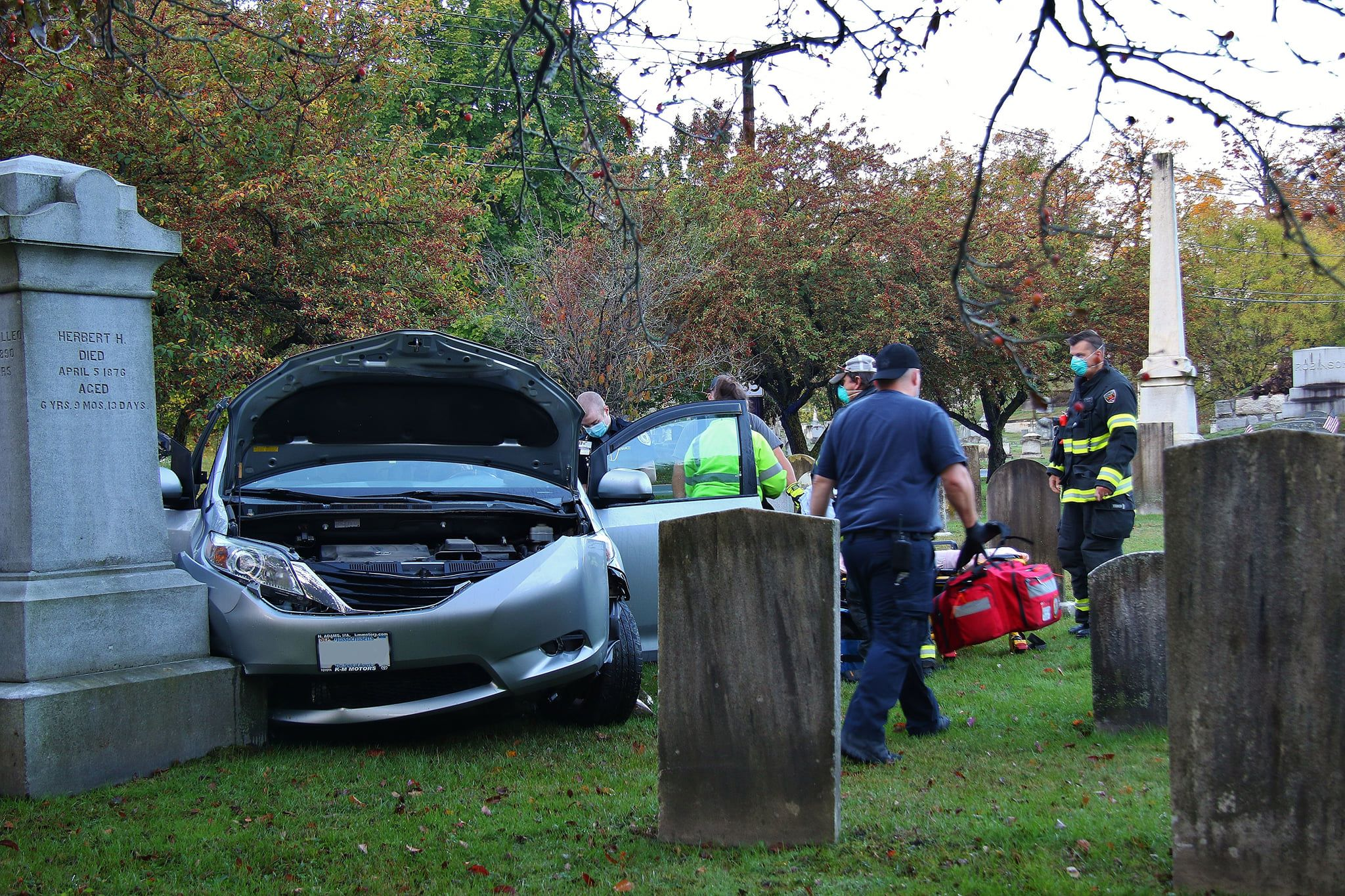 North Adams cemetery motor vehicle accident