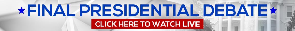 Presidential Debate Banner