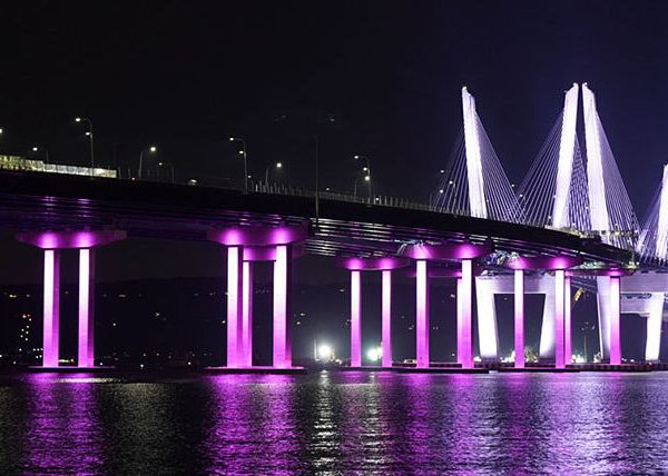 Cuomo bridge in pink for breast cancer awareness