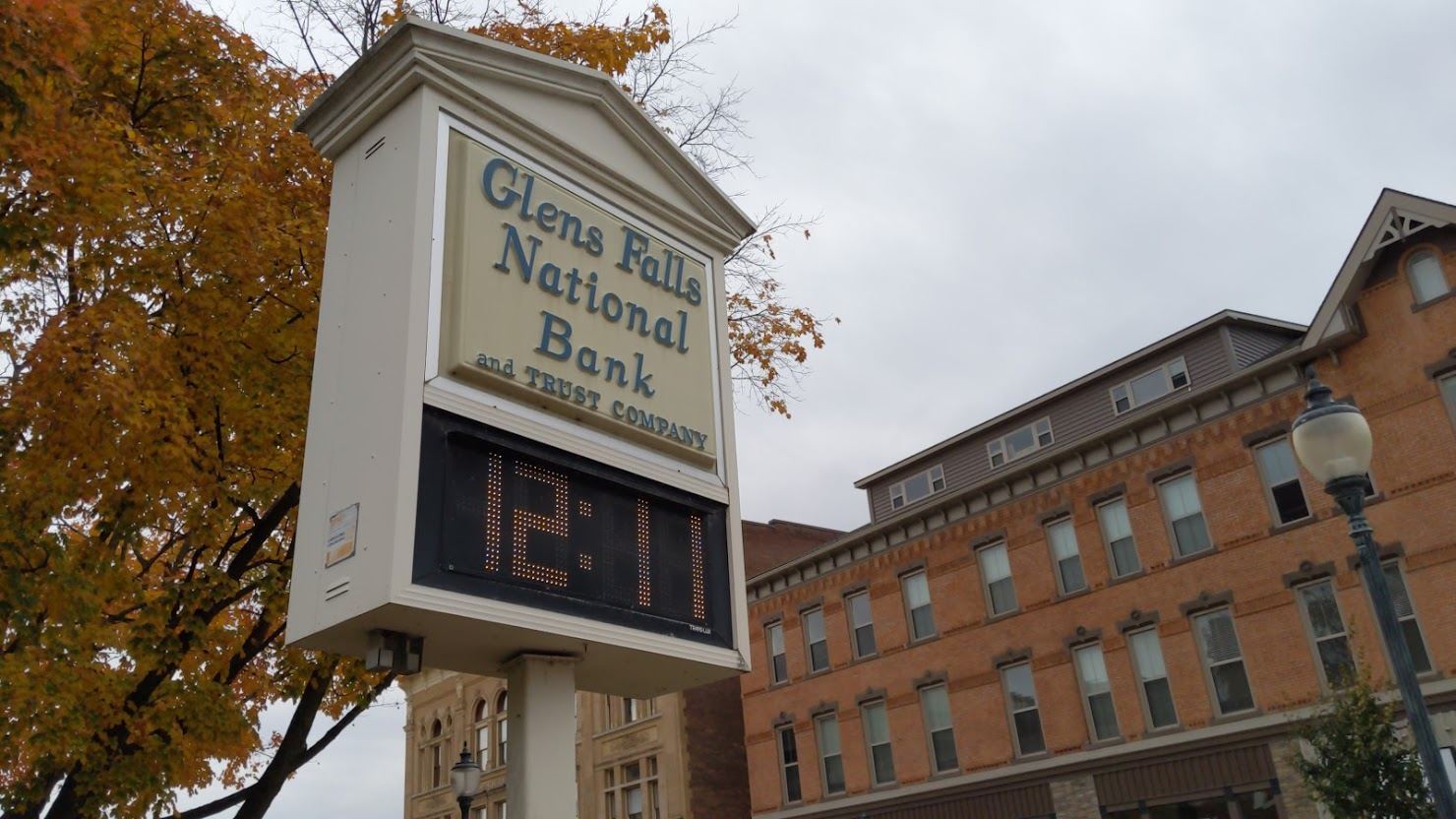 glens falls national bank sign